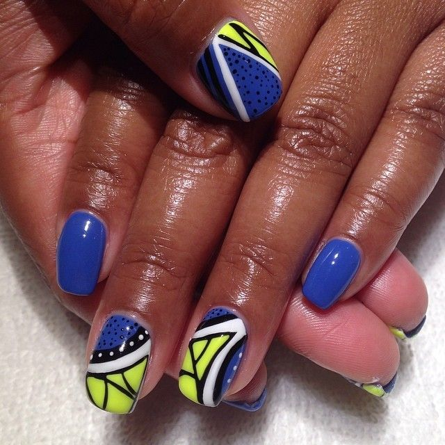 African Nail Art: 95 Best African Inspired Nails Images On Pinterest