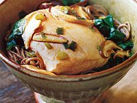 Salmon and Whole-Wheat Noodles in Ginger Broth