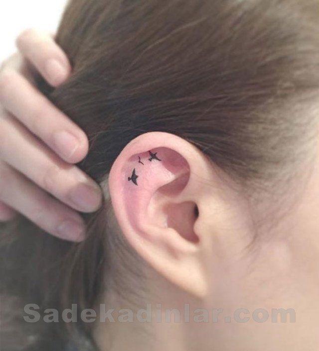 Best Small Tattoo Ideas for Women - Küçük Dövme Modelleri Tattoo Kulak İçin Kuş Dövmeleri