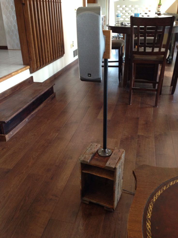 diy pallet iron pipe. Speaker Stand From Old Wooden Box \u0026 Iron Pipe Diy Pallet