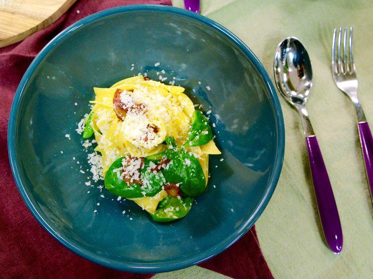 Pasta med spenat och bacon | Recept från Köket.se