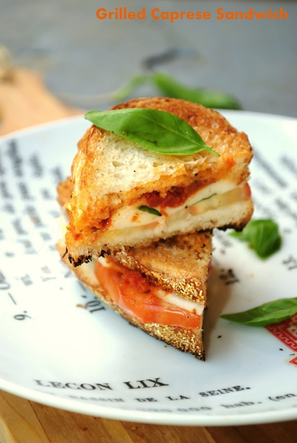 Grilled caprese cheese sandwich! | Good Eats | Pinterest