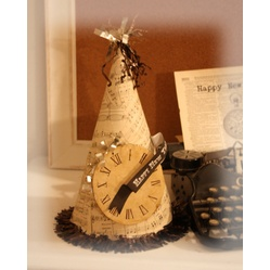 New Year's party hat how-to's  #New #Years Party Decor and #Food Ideas