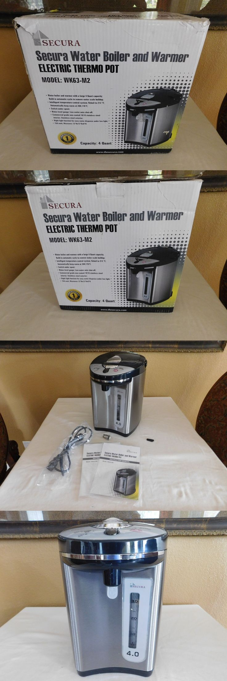 Hot Water Pots 177755: Secura Water Boiler And Warmer Electric Thermo Pot Wk-63-M2 -> BUY IT NOW ONLY: $59.95 on eBay!