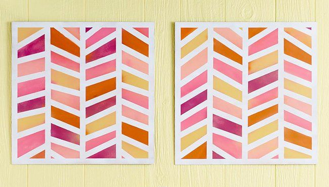 You won't believe how easy it is to make this herringbone wall art.