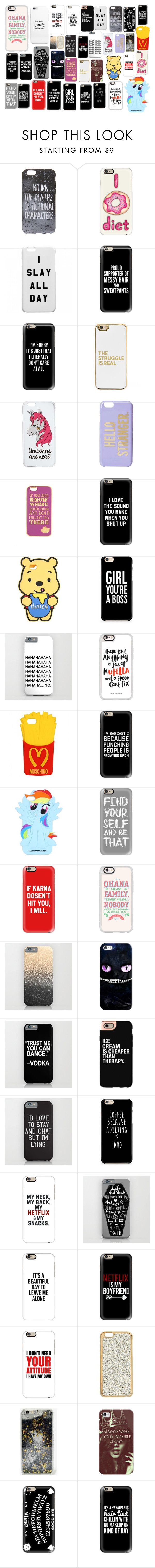 """""""Phone cases"""" by audrey12230303 on Polyvore featuring Casetify, BaubleBar, Miss Selfridge, Kate Spade, Disney, Moschino and Skinnydip"""