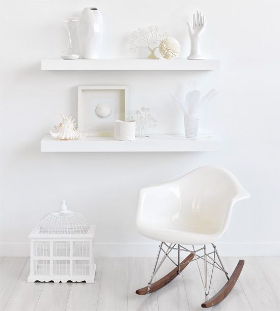 white living: love the Eames rocker
