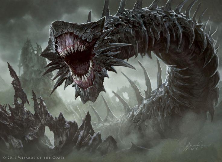 Massacre Wurm. Art by Jason Chan