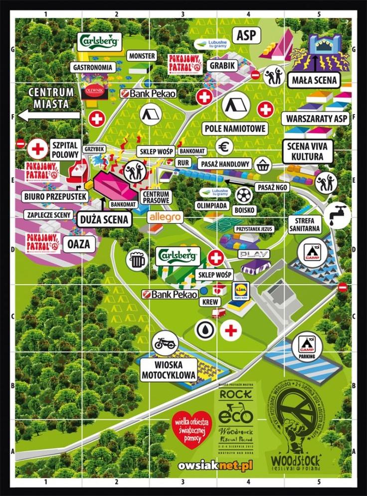 Festival Haltestelle Woodstock 2012: Landkarte der Festivalgeländes
