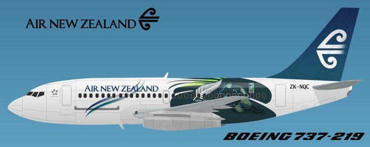 Air New Zealand 737-200QC All Black Livery. Image via google