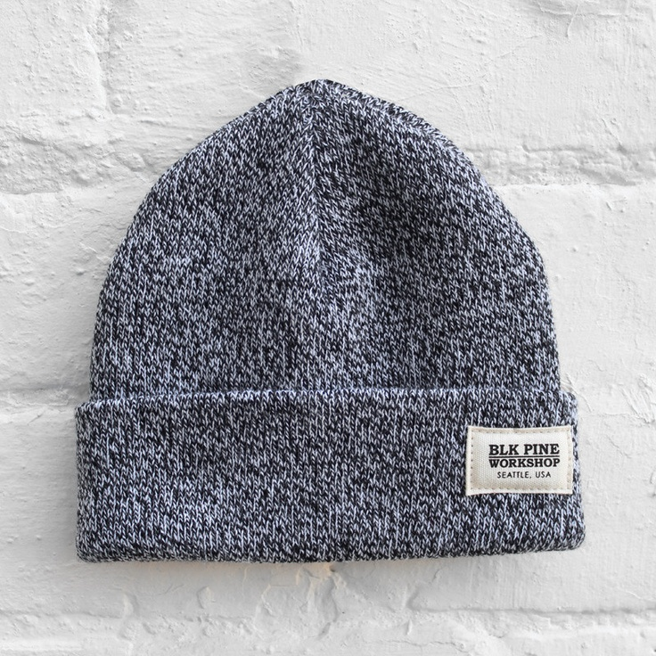 BLK Pine Workshop - Tight Knit Beanie - Black Marl - £24.99