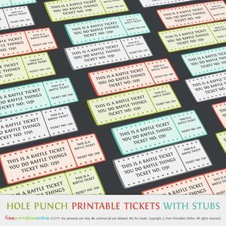 Free Printable Event Tickets Template] Free Printable Event Ticket ...