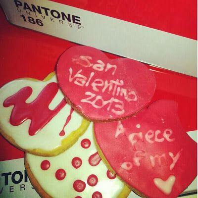 #Pantone #red #white #cookies #valentinesday