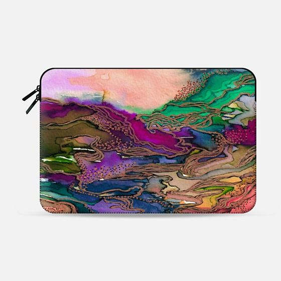 """Bring on Bohemia 1"" by Artist Julia Di Sano, Ebi Emporium on @Casetify Colorful Boho Chic Rainbow Nature Hippie Intricate Bohemian Watercolor Painting Design Macbook Sleeve Case #colorful #rainbow #multicolored #MacbookCase #MacbookPro #ProRetina #MacbookSleeve #LaptopSleeve #LaptopCase #Colorful #Rainbow #boho #bohemian #office #tech #sleeve #EbiEmporium #Casetify #swirls #nature"