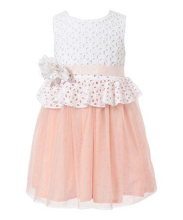 Look+what+I+found+on+#zulily!+Peach+Lace+Dress+-+Toddler+&+Girls+#zulilyfinds