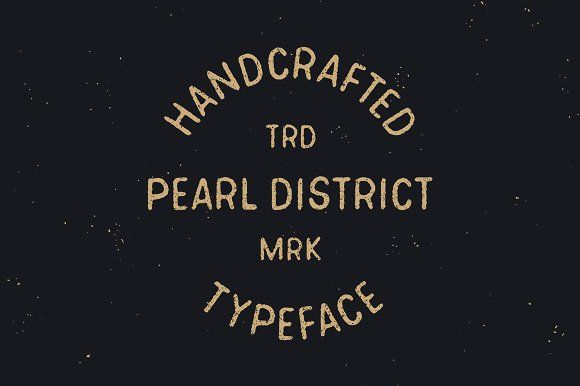 Pearl District - Hand Drawn Font by James Lafuente on @creativemarket