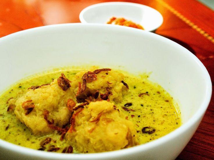 Celimpungan Kuliner Khas Palembang Berkuah Santan Kental  - Kuliner Palembang