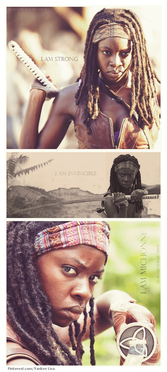 Michonne, The Walking Dead --- I cant wait to learn more about her.