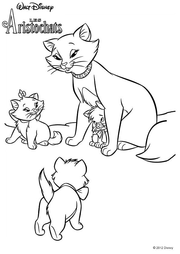 52 best Aristocats Coloring Pages images on Pinterest | Adult ...