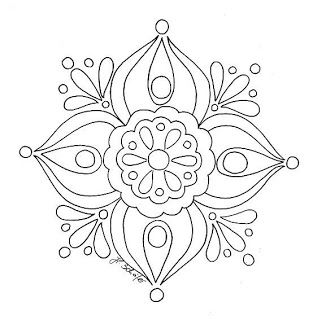 Simple mandala.....could bead embroider it