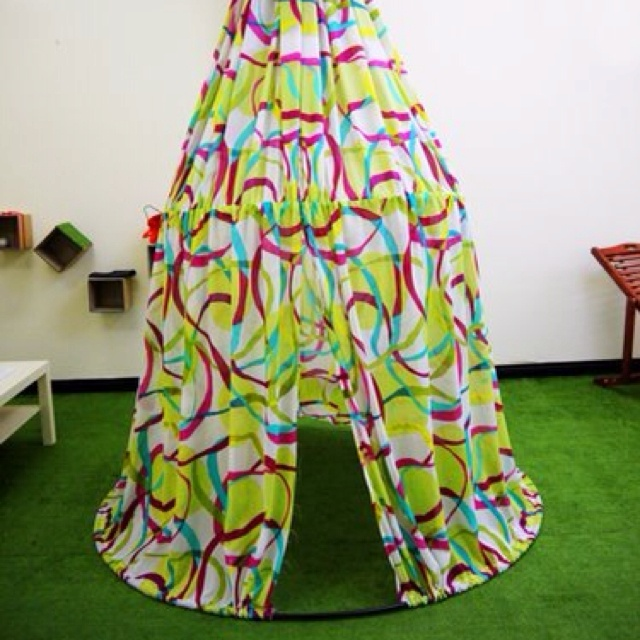 My play tent, not for sale to the public.