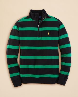 Ralph Lauren Childrenswear Boys' French Ribbed Stripe Sweater - Sizes 8-20 | Bloomingdale's