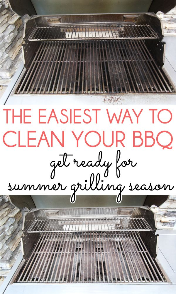 THE EASIEST WAY TO DEEP CLEAN A BBQ GRILL! Even if you clean your BBQ grill with a wire brush after each use, it still needs a deep cleaning from time to time. This method is quick and easy without using any harsh chemicals.