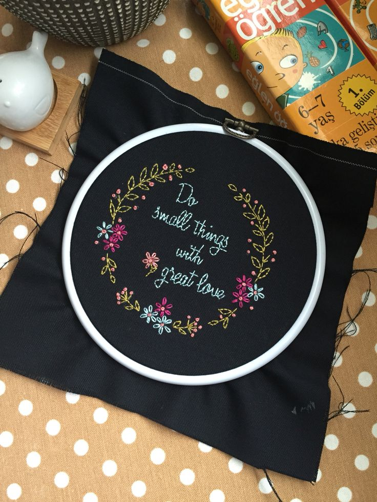Embroidery, french knots,flowers