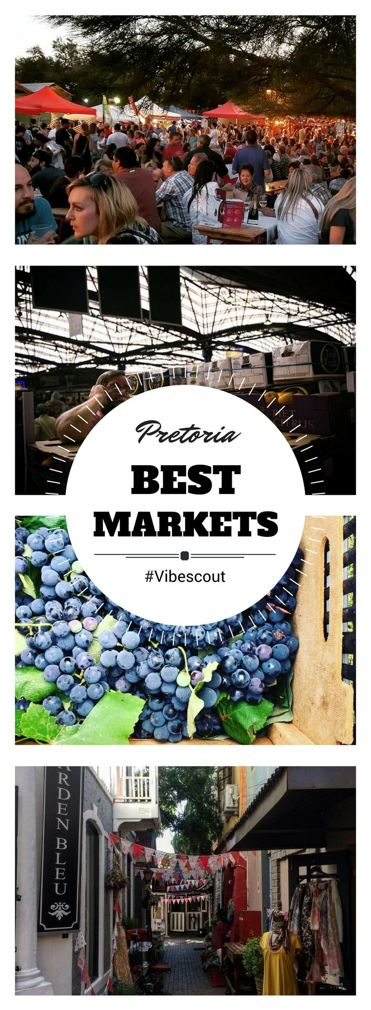 If shopping indoors is not your thing, take a look at the various markets on offer. #Marketpretoria#foodmarket#goodsmarket