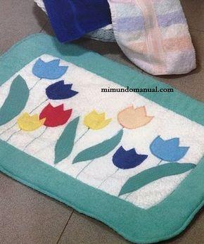 Manualidades alfombra para baño | Mimundomanual