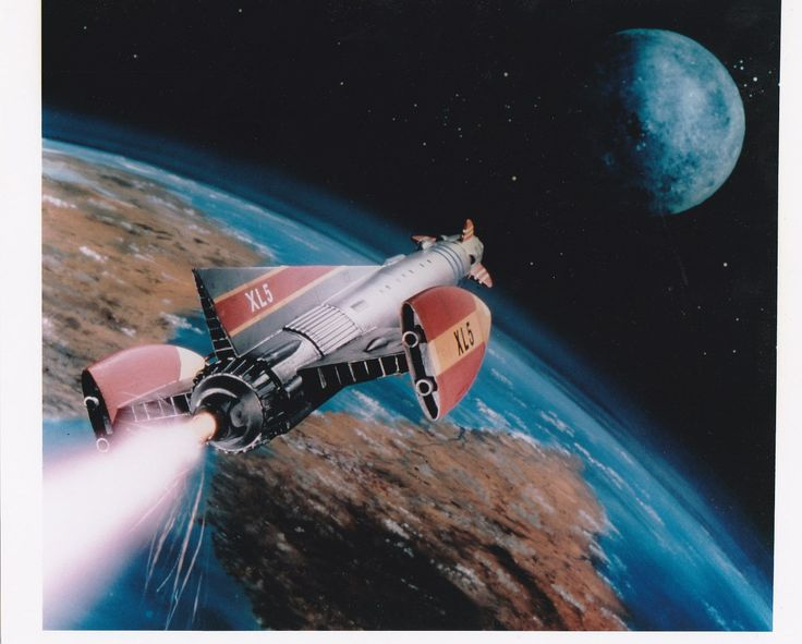 """The spaceship """"Fireball XL5"""" from the 1960's TV series of the same name."""