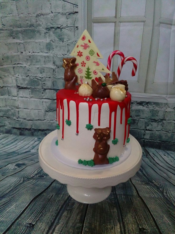 Classic Christmas Tree: Christmas Drip Cake Made By Kate Welsh
