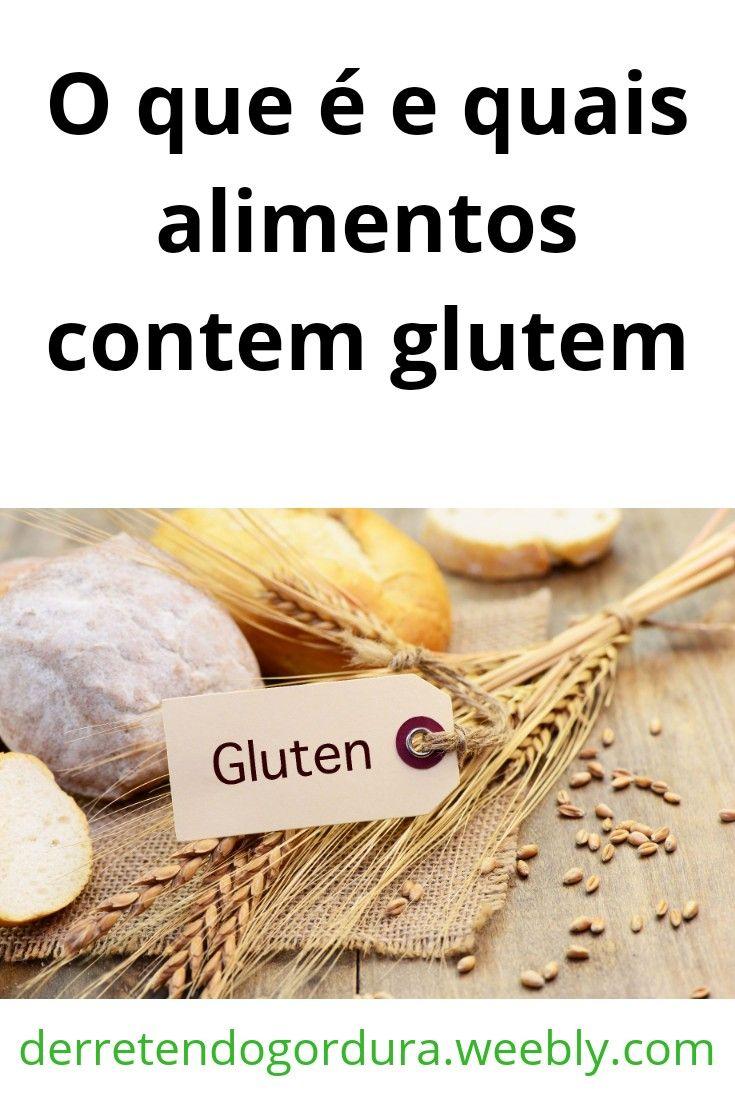 alimentos q tem gluten