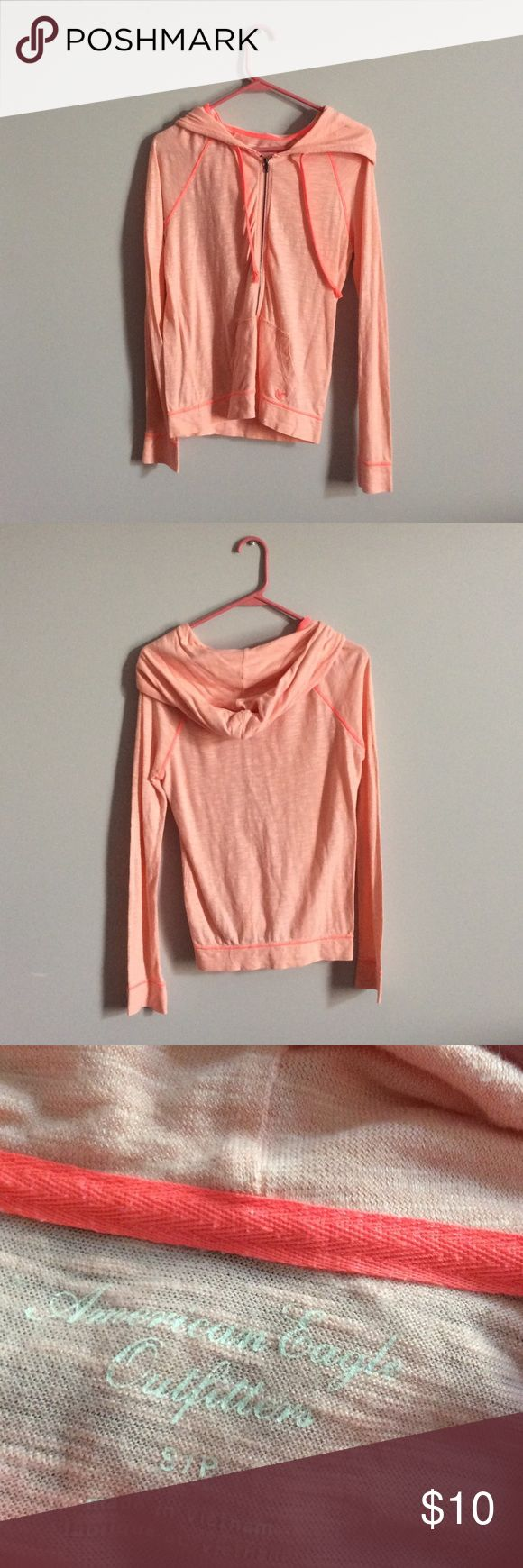 American Eagle Outfitters Coral Zip Up Coral Zip Up from American Eagle Outfitters. Good condition. American Eagle Outfitters Jackets & Coats