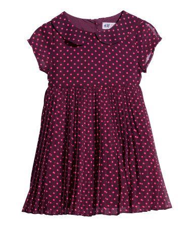 Aubergine jurk van H&M.