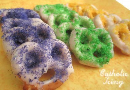 Mardi Gras Pretzels | Edible Crafts | CraftGossip.com