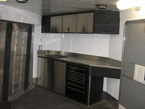 cabinets for enclosed trailers 1000 images about enclosed trailer interiors on 13121