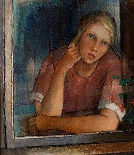 Alvar Cawén - Girl at the Window