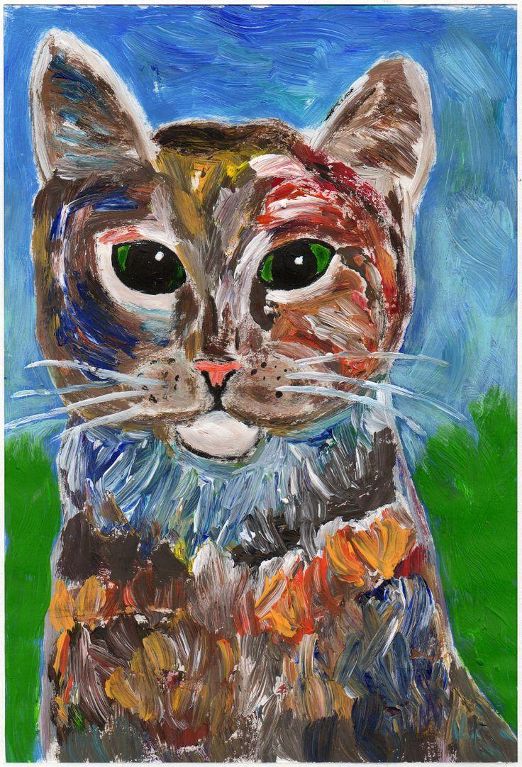 Una sera, me lo ricordo ancora, hanno bussato alla porta e quando ho aperto c'era un gatto.  Se ne stava sulla soglia di casa: un gatto con gli occhi verdi  mi fissava.