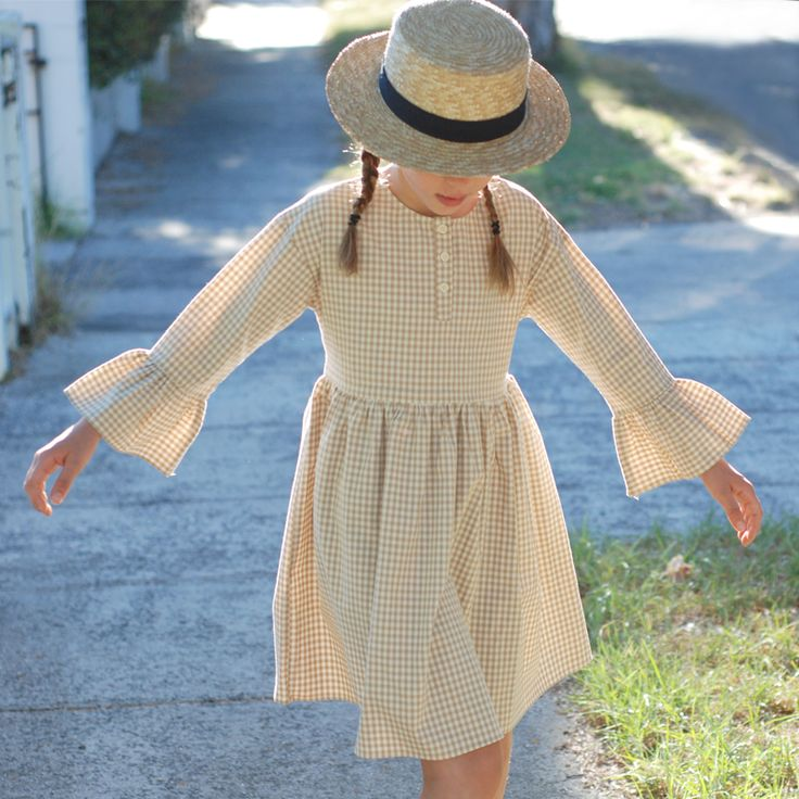 graceful dress in a pretty gingham fabric