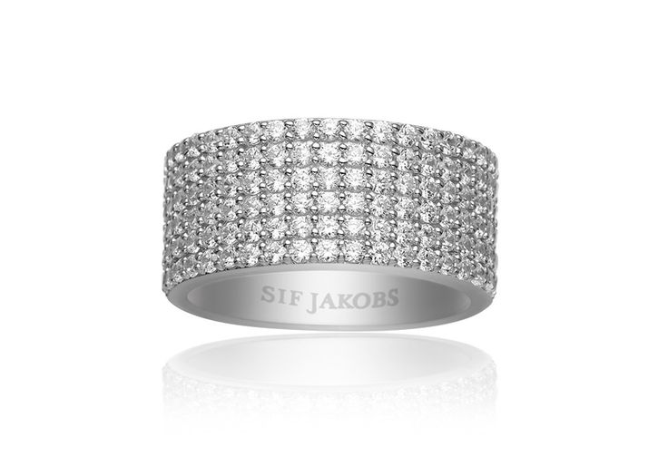 Corte ring with white zirconia stones. Find your nearest store at www.sifjakobs.com