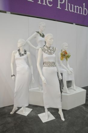 Julia Clancey belt and collar made with Swarovski crystal for the WJF 2013