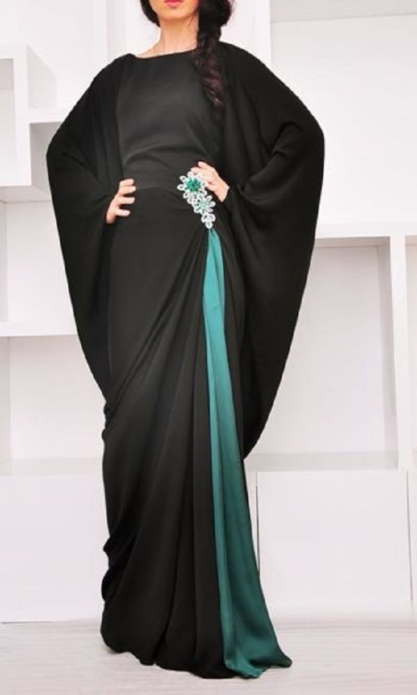 Fancy Party Wear Formal Hijabs with Abaya Collection 2016-2017 (6)