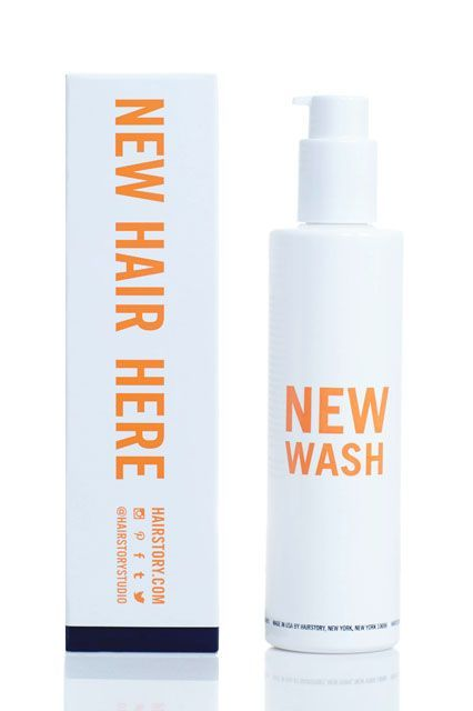 """""""The idea was it's a new way to wash your hair, completely new. People are shocked, some of them when they fall in love with it because you think 'bubbles, bubbles' — your whole life is spent with bubbles in the bath.""""Hairstory New Wash, $40, available at Hairstory. #refinery29 http://www.refinery29.com/2015/11/97245/hairstory-new-wash-shampoo-conditioner-launch#slide-1"""