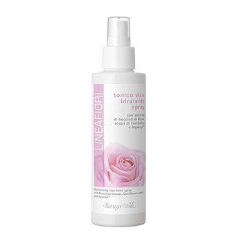 Tonico viso idratante spray con estratto di boccioli di Rosa, acqua di Fiordaliso e Aquaxyl (150 ml)