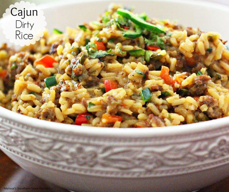 Cajun Dirty Rice | Recipe | Traditional, Cajun rice and Colors