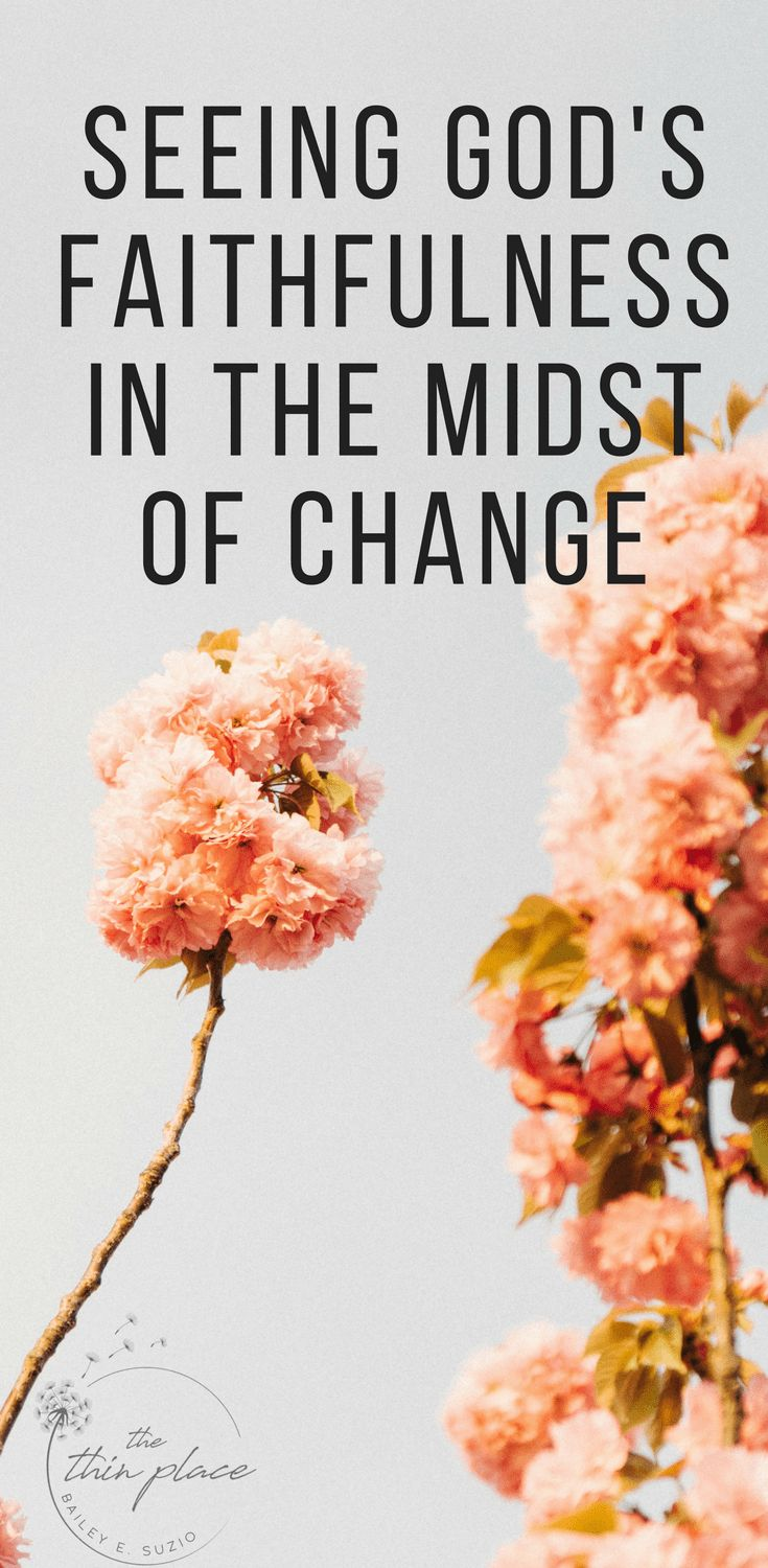 Seeing God's Faithfulness in the Midst of Change - The Thin Place
