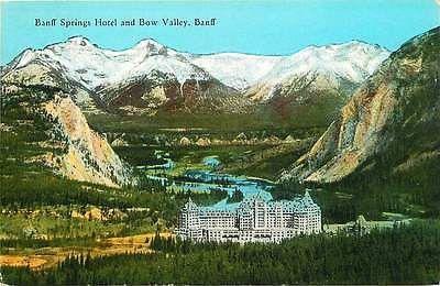 Banff Alberta Canada 1929 Bow Valley Banff Springs Hotel Vintage Postcard