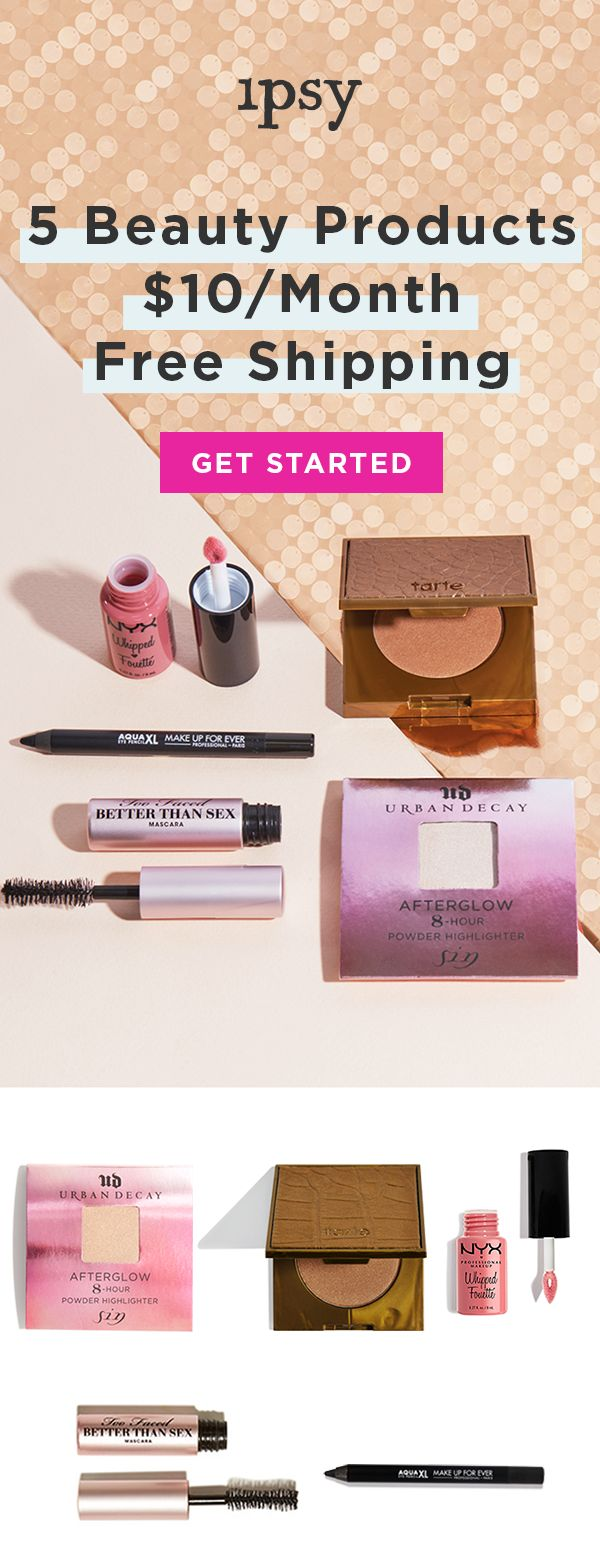 Personalized Monthly Makeup and Beauty Sample Subscription for only $10 a month! You can receive makeup brushes , face and hair masks , nail polish , self tanners , skin hydration , all types of makeup. You get about $100 worth of makeup for on $10 a month every month!