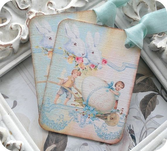 70 best easter images on pinterest easter gift easter treats and shabby easter gift tags 6 easter favor tags easter treat tags easter basket tags shabby gift tags easter egg tags vintage easter tags negle Choice Image